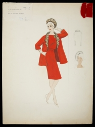 BOB MACKIE ORIGINAL MARILYN MONROE COSTUME SKETCH