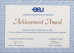 PELÉ 2003 UROLOGY ACHIEVEMENT AWARD