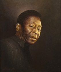 PELÉ 2012 PORTRAIT PAINTING