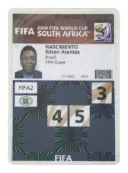 PELÉ 2010 FIFA WORLD CUP CREDENTIAL