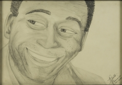 PELÉ SEPTEMBER 24, 2010, DRAWING OF PELÉ