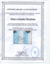 DIEGO MARADONA SIGNED ARGENTINA NATIONAL FOOTBALL TEAM JERSEY ... 6a3d2924bc186