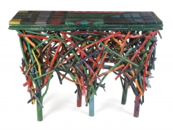 PATRICK SWAYZE POLYCHROME BRANCH TABLE