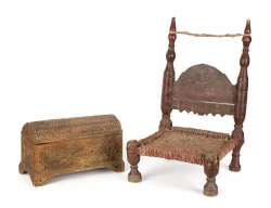 PATRICK SWAYZE INDIAN CHAIR AND CHEST
