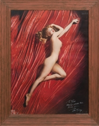 MARILYN MONROE TOM KELLEY RED VELVET POSTER