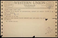MARILYN MONROE TELEGRAM
