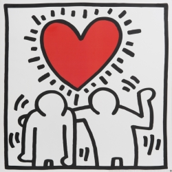 Keith Haring (after) - Heart Couple