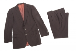 SAMMY DAVIS JR. BROWN PINSTRIPE SUIT