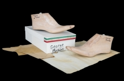 GEORGE MICHAEL CUSTOM SHOE MOLDS AND SIGNED PATTERN