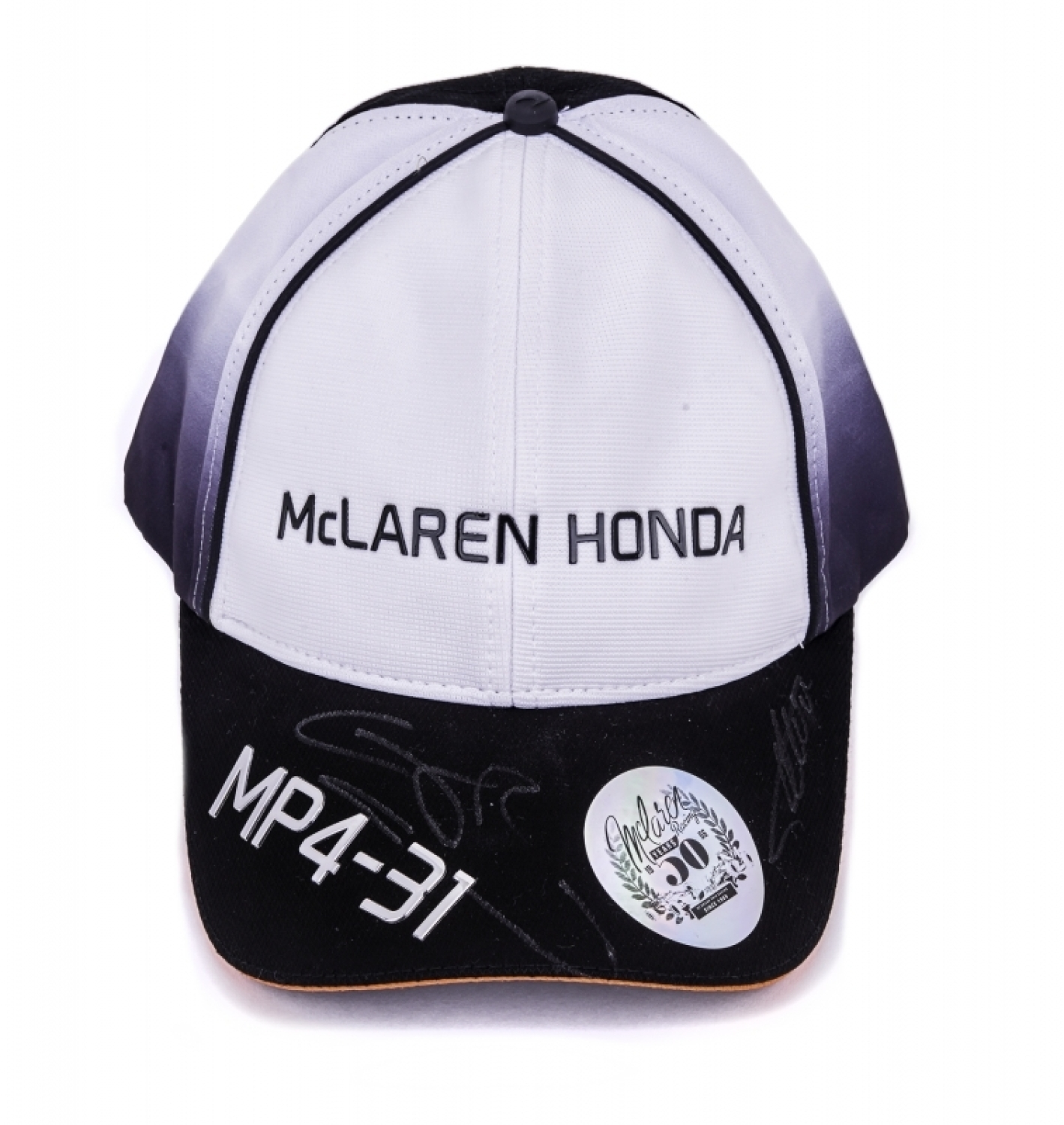 41bf5957ae812 Lot 4 of 1016  FERNANDO ALONSO AND JENSON BUTTON SIGNED 2016 McLAREN HONDA  F1 TEAM CAP