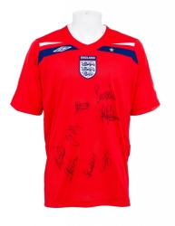 2008 MULTI-SIGNED ENGLAND NATIONAL FOOTBALL TEAM JERSEY