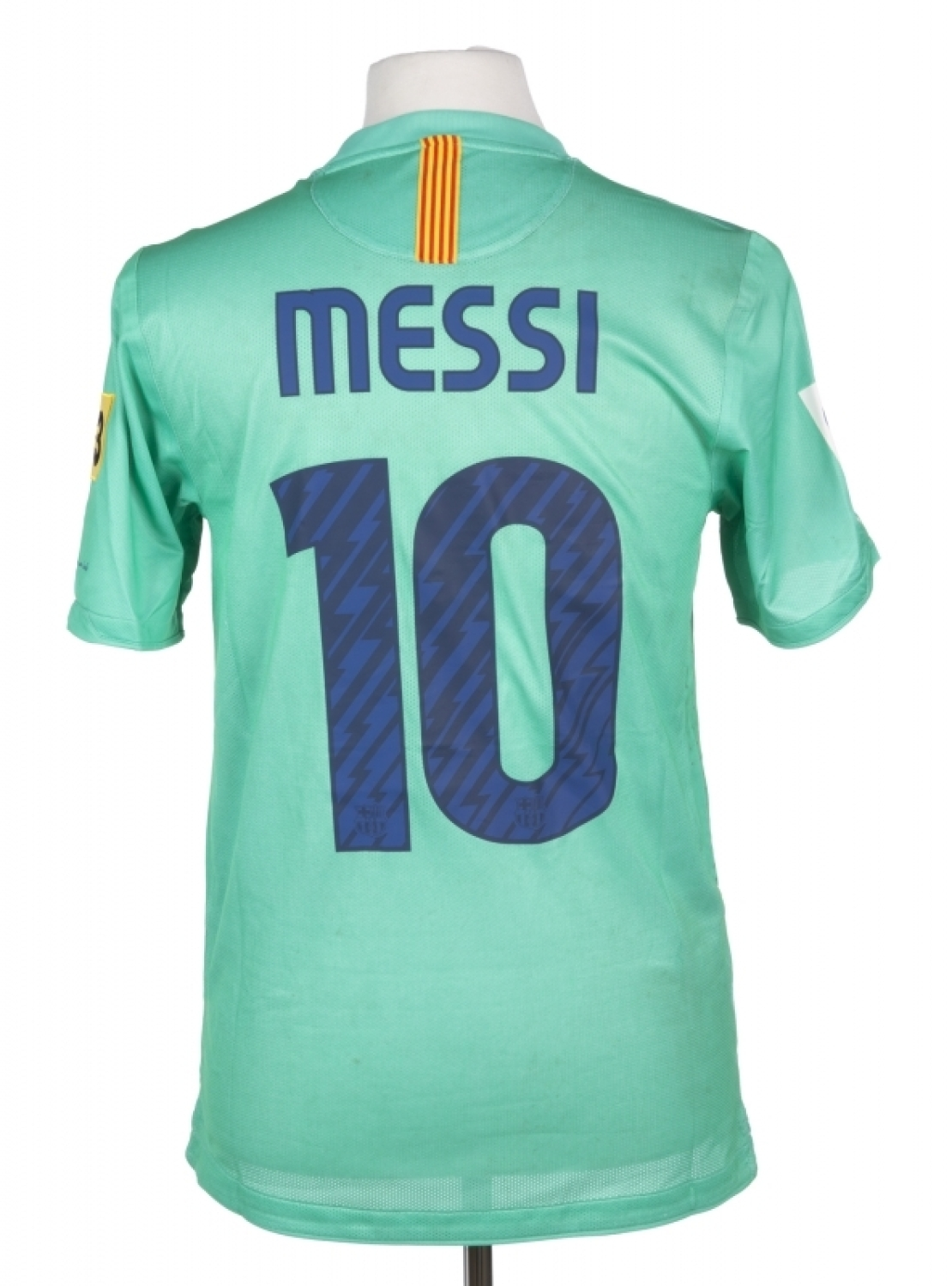 345277304bc LIONEL MESSI MATCH WORN 2010-2011 FC BARCELONA JERSEY Please Wait... Click  image to enlarge