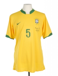 MINEIRO 2007 COPA AMÉRICA BRAZIL TEAM ISSUED AND SIGNED JERSEY