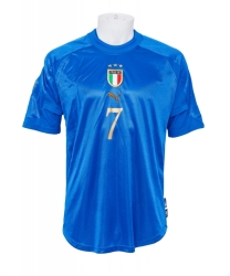 ALESSANDRO DEL PIERO SIGNED 2004 ITALY NATIONAL FOOTBALL TEAM ISSUED JERSEY