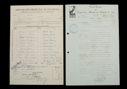 1930 FIFA WORLD CUP USA VS. PARAGUAY MATCH DOCUMENTS