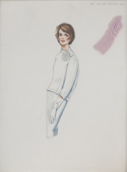 TRAVILLA COSTUME DESIGN SKETCH FOR JACLYN SMITH