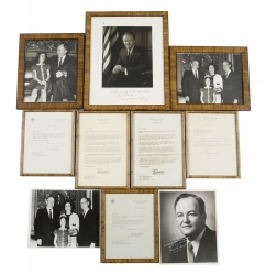 HUBERT HUMPHREY SIGNED PHOTOGRAPHS AND LETTERS