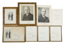 HARRY TRUMAN SIGNED PHOTOGRAPHS AND LETTERS