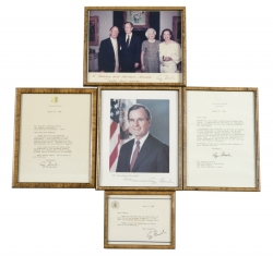 GEORGE H.W. BUSH SIGNED ITEMS