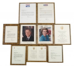 BILL AND HILLARY CLINTON INVITATIONS AND SIGNED ITEMS