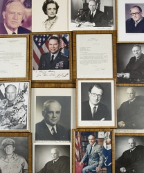 UNITED STATES MILITARY AND LAW FIGURES SIGNED PHOTOGRAPHS