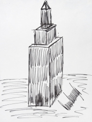 DONALD TRUMP DRAWING OF EMPIRE STATE BUILDING