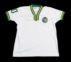 PELÉ SIGNED AND INSCRIBED  77 NASL CHAMPS COSMOS JERSEY 7966305cb