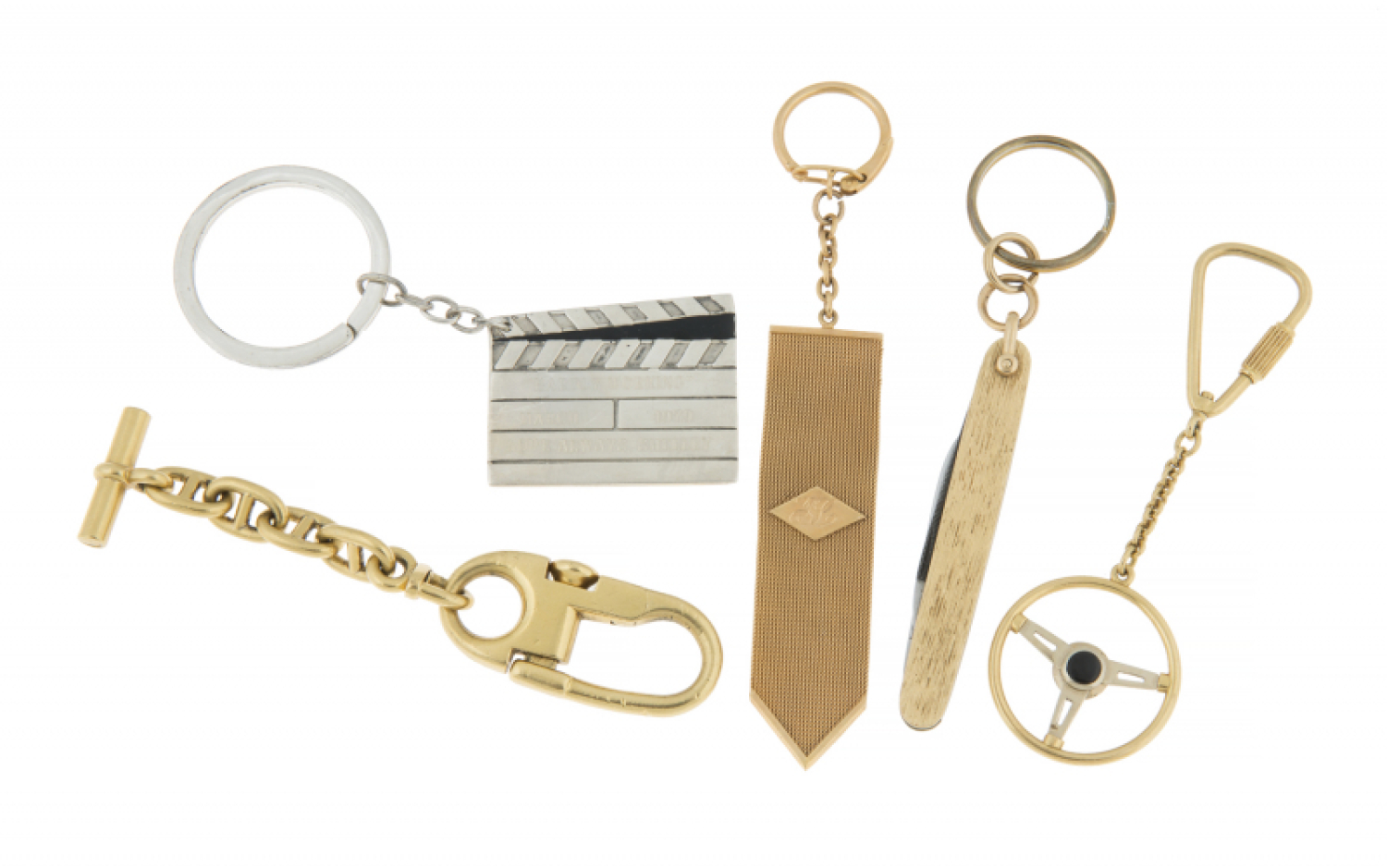 JERRY LEWIS GOLD AND PERSONALIZED KEYCHAINS - Price Estimate: $1500