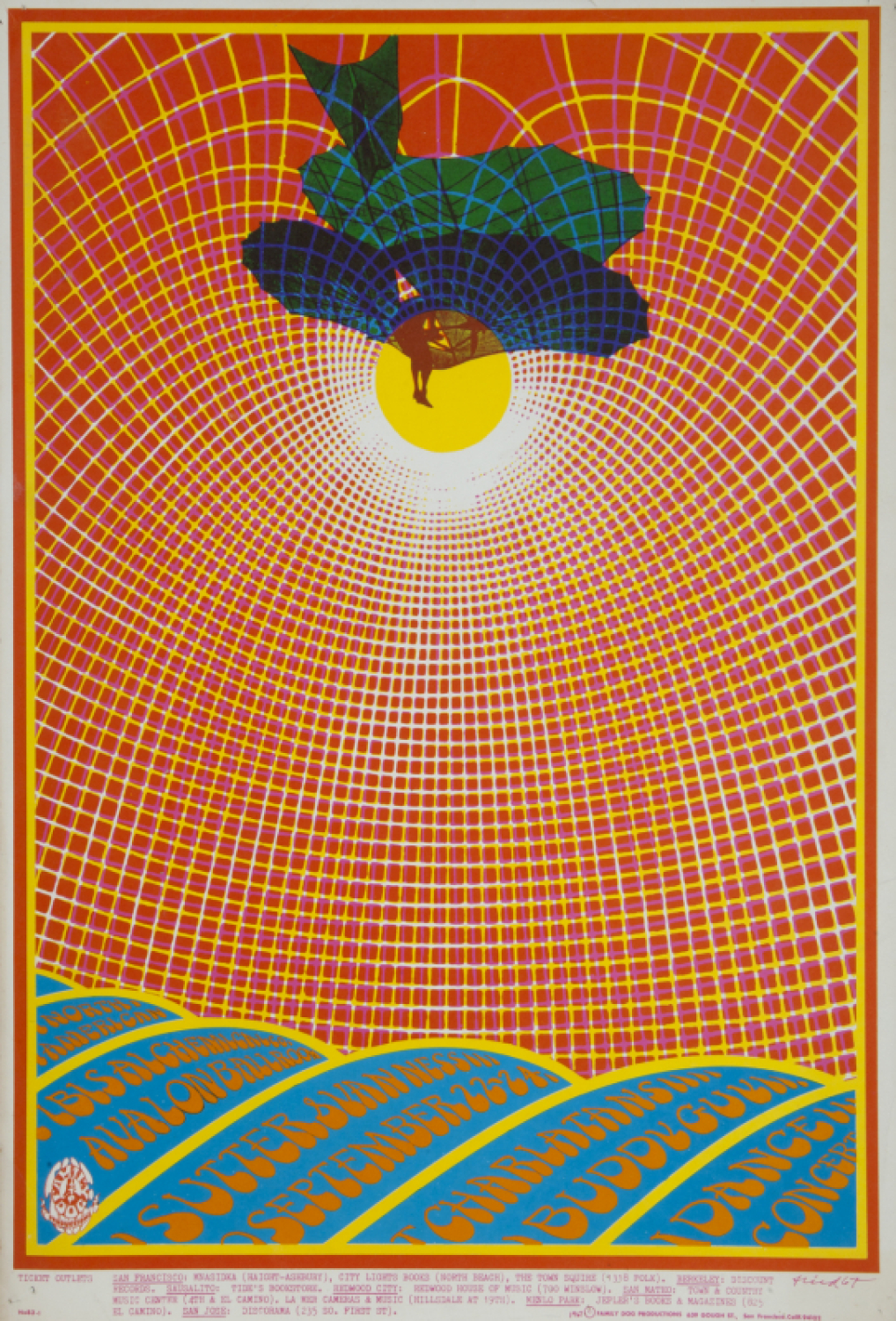 PSYCHEDELIC ACID ROCK CONCERT POSTERS (FAMILY DOG FD83