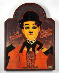 "CHARLIE CHAPLIN ""LE CIRQUE"" PROMOTIONAL SIGN"