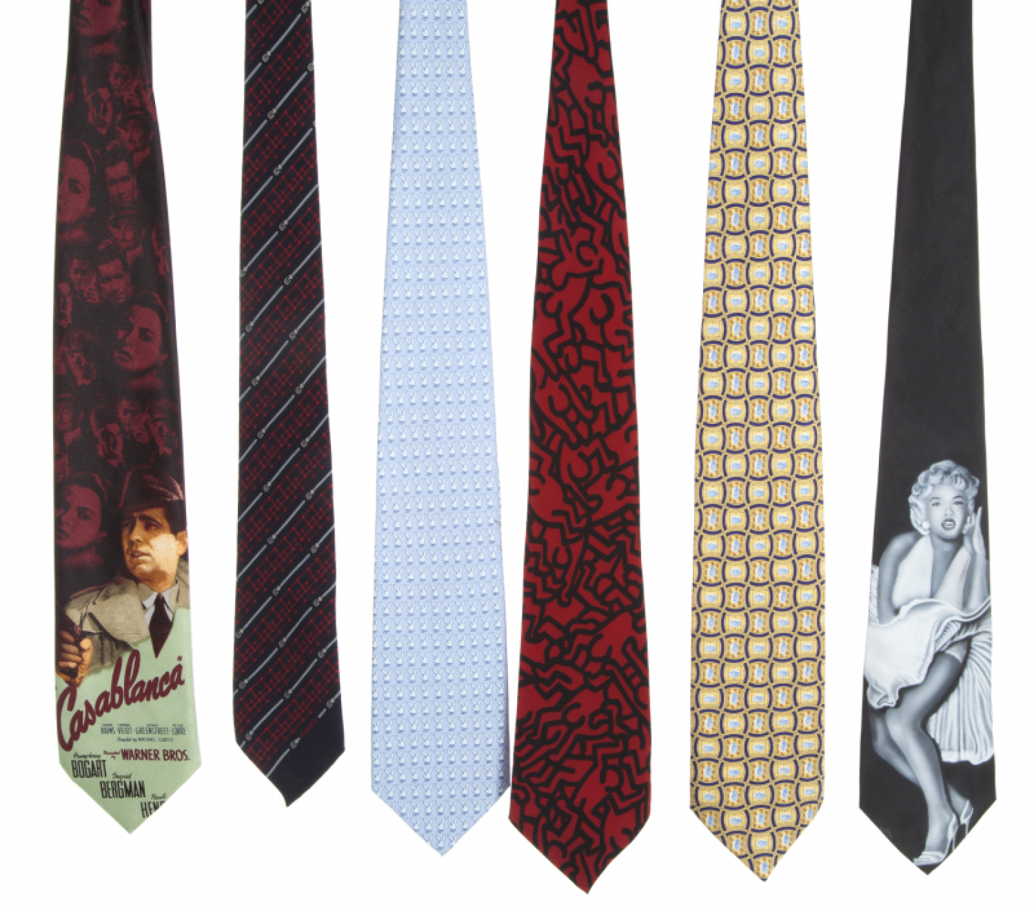 4d3a453a0ef8 HUGH HEFNER SILK NOVELTY TIES - Price Estimate: $600 - $800