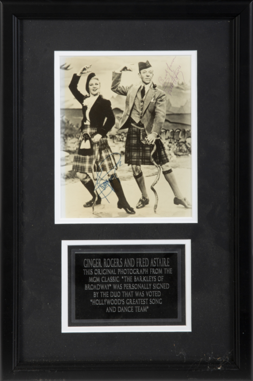 Hugh Hefner Fred Astaire And Ginger Rogers Signed Photograph