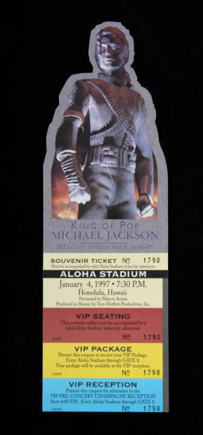 MICHAEL JACKSON ALOHA STADIUM SOUVENIR TICKET - Current