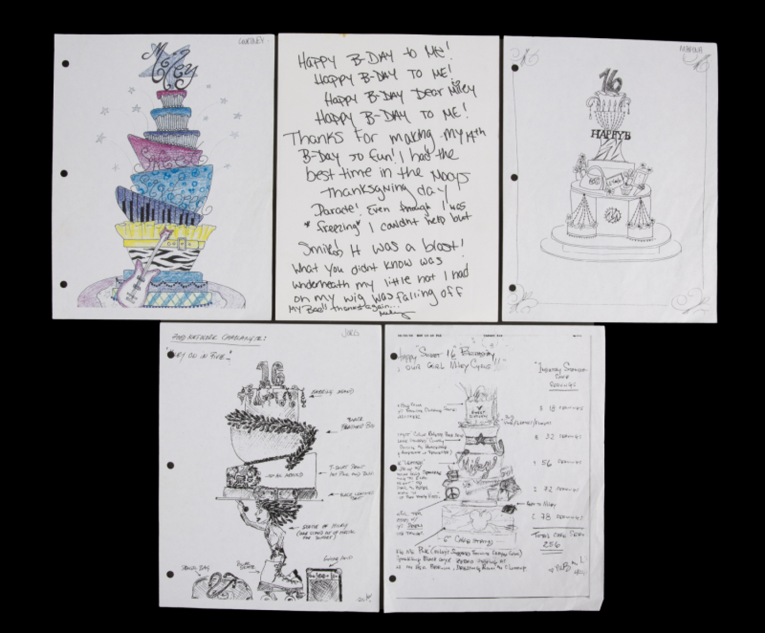 Magnificent Miley Cyrus Birthday Note And Cake Designs Funny Birthday Cards Online Alyptdamsfinfo