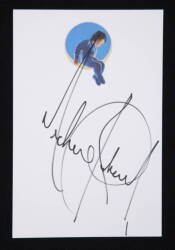 MICHAEL JACKSON SIGNED SHEET OF NEVERLAND CARD STOCK