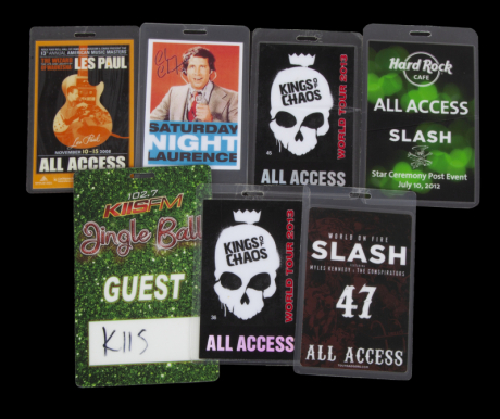 SLASH ALL ACCESS PASSES - Current price: $300