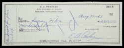 ELVIS PRESLEY SIGNED CHECK