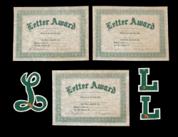 MARLON BRANDO JUNIOR HIGH SCHOOL LETTERS AND CERTIFICATES