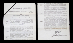 HUMPHREY BOGART EARLY SIGNED ACTORS' EQUITY ASSOCIATION CONTRACT
