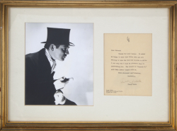CLARK GABLE SIGNED NOTE