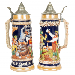 PAIR OF SOUVENIR STEINS