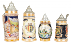 GROUP OF SOUVENIR STEINS