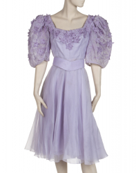 ELIZABETH TAYLOR 'MOTHER OF THE BRIDE' DRESS AND HAT