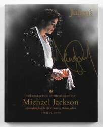 MICHAEL JACKSON SIGNED AUCTION CATALOG