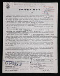 FRANK ZAPPA SIGNED TEN-PAGE CONTRACT