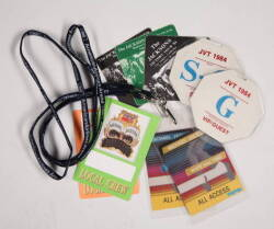 MICHAEL JACKSON TOUR LAMINATES AND PASSES