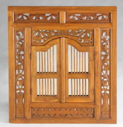 CARVED WOODEN DECORATIVE WALL MIRROR