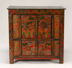 HANDPAINTED ASIAN STYLE CABINET