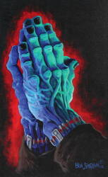 BEN STRAWN GICLEE OF HANDS IN PRAYER