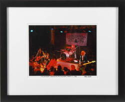 GUNS N' ROSES PERFORMANCE SIGNED COLOR PHOTOGRAPH 1986